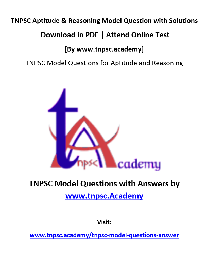 tnpsc aptitude and mental ability model questions