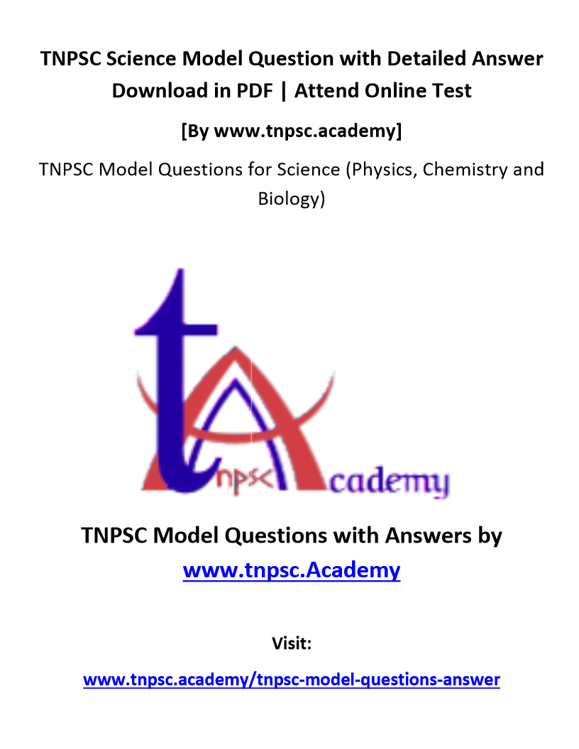 TNPSC Science Questions