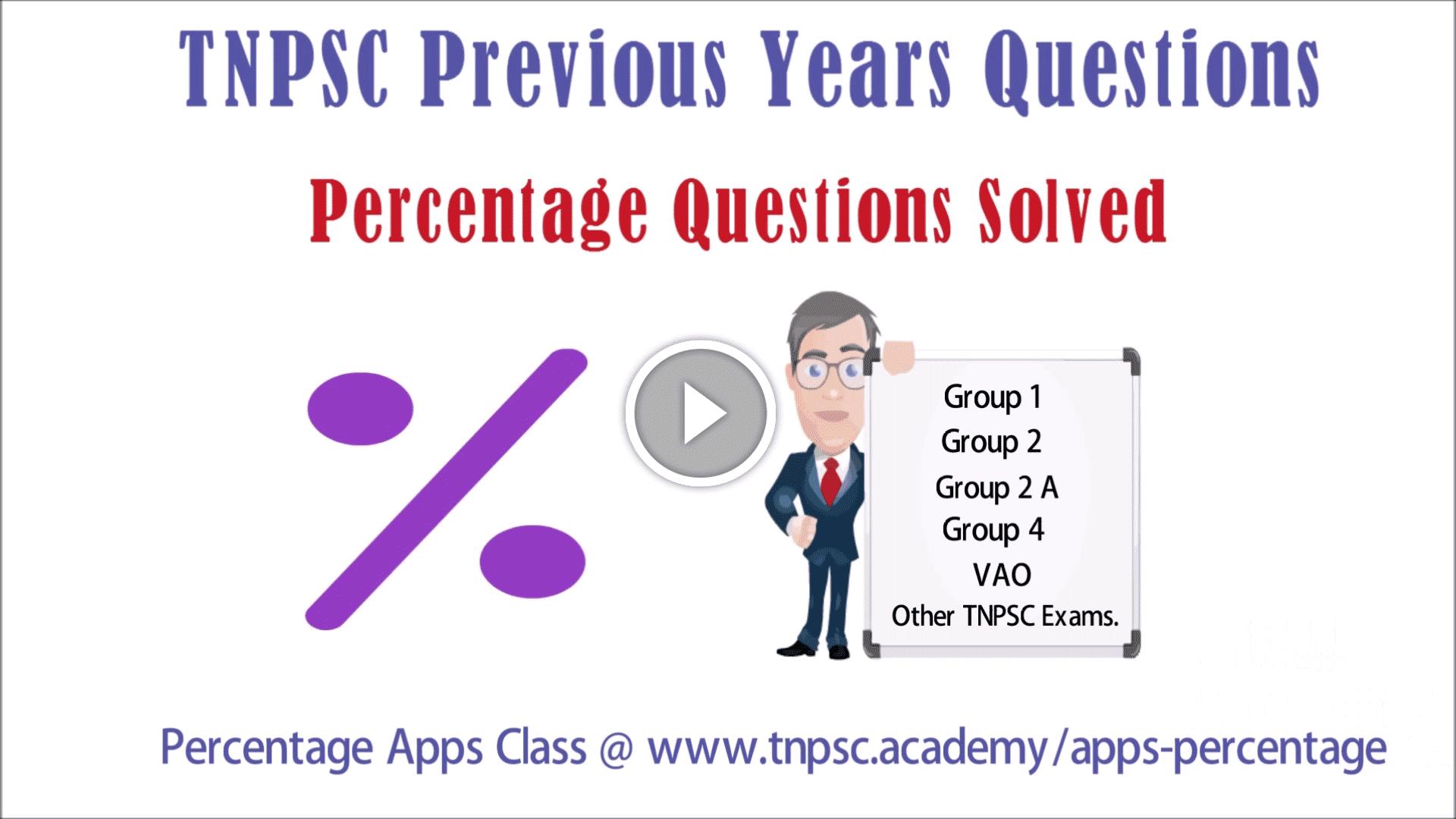 TNPSC Aptitude Video Class